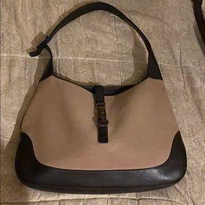 Gucci Jackie O System Gold Canvas Ltr Shoulder Bag